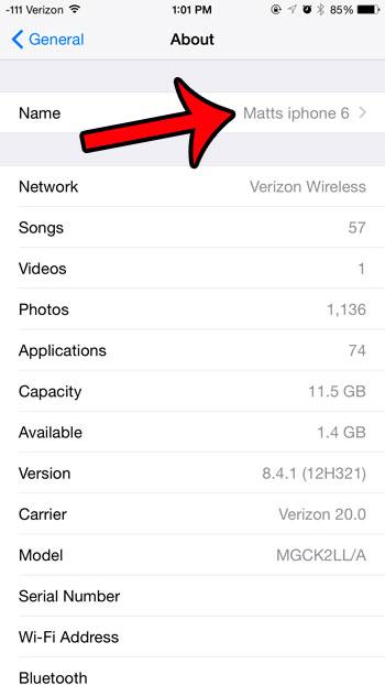 Как изменить имя Bluetooth на iPhone