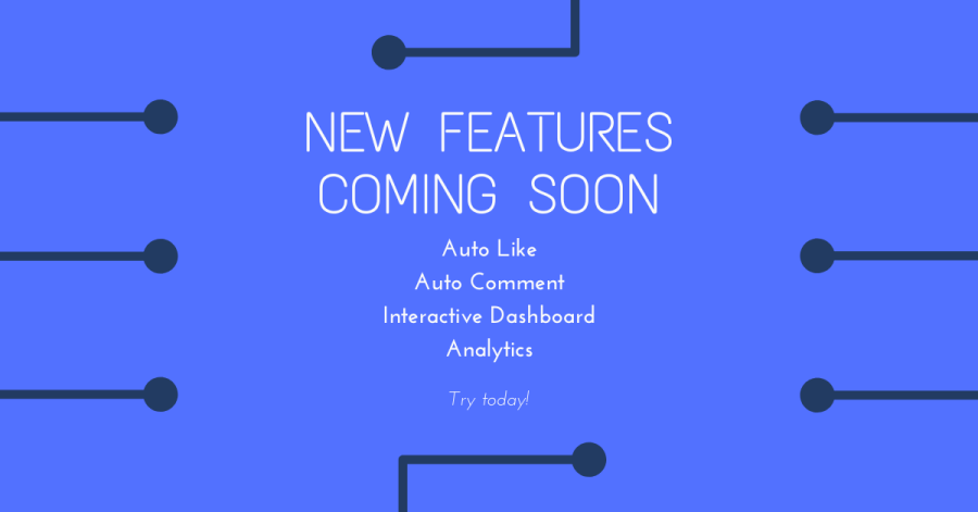 AutoTokker TikTok bot new features coming soon. AutoLike, autocomment, post schedule, dashboard with analytics. Gain TikTok followers now!
