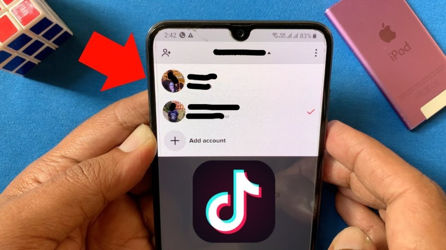 Adding a second TikTok account on one phone