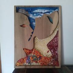 figures: résultat fini avec cadre en bois