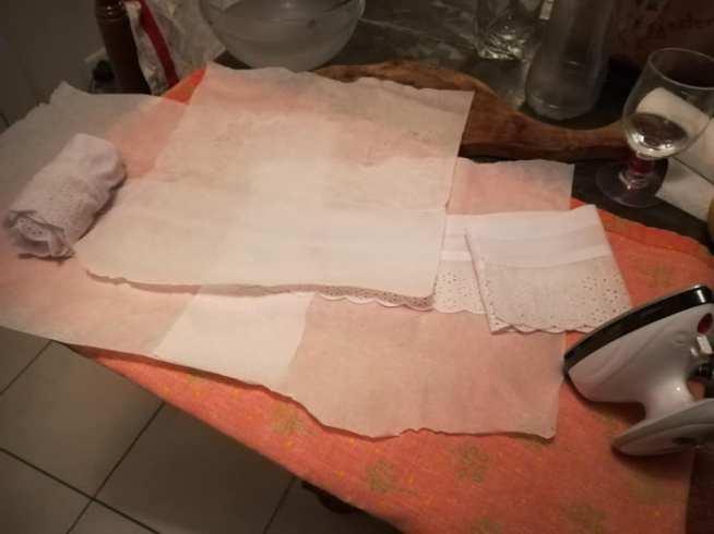 amidonnage du tissu pour la fraise