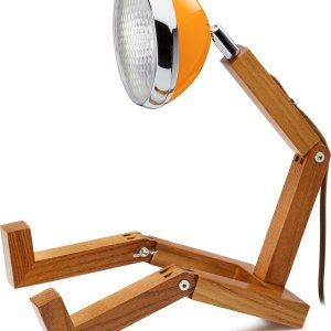 Mr. Wattson Tafellamp - Met Vintage Oldtimer Lampenkap - Energiezuinig - Mclaren Orange