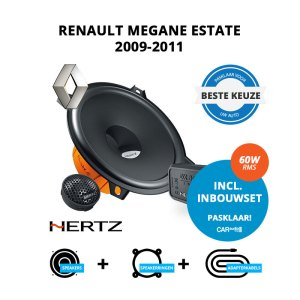 Beste speakers voor Renault Megane Estate 2009-2011