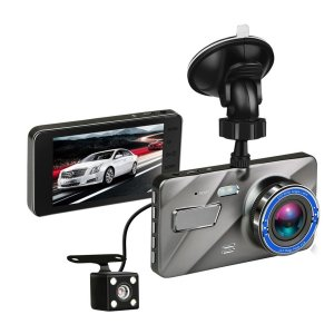 4 Inch HD 1080P Dual Lens Camera Nachtzicht Loop Opname 170 Graden Auto DVR Video Dash Cam Voor Achter Recorder
