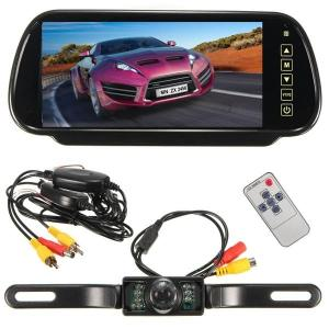 Draadloze7inchLCDSpiegelMonitor + IR Achteruitrij Achteruitrij Camera Backup Kit
