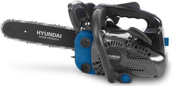 Hyundai kettingzaag 25cc - 2-takt easy-start benzine motor - 25 cm zwaardlengte - incl. extra ketting en opbergtas