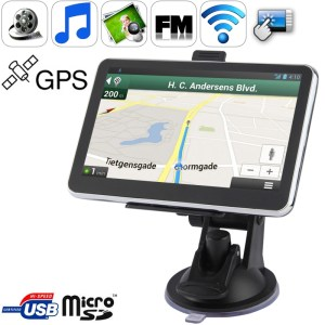 5 0 inch TFT Touch-screen Car GPS Navigator met 4GB geheugen en Kaart Ondersteuning AV In Port Touch Pen Voice Broadcast FM Transmitter Bluetooth