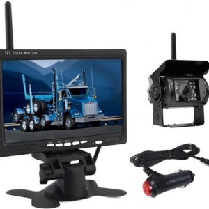 BrandWay Draadloze Auto Achteruitrijcamera Set Met Nachtzicht en 7 inch scherm - Achteruitrij Camera Draadloos voor Auto / Camper / Caravan / Vrachtwagen / Landbouw