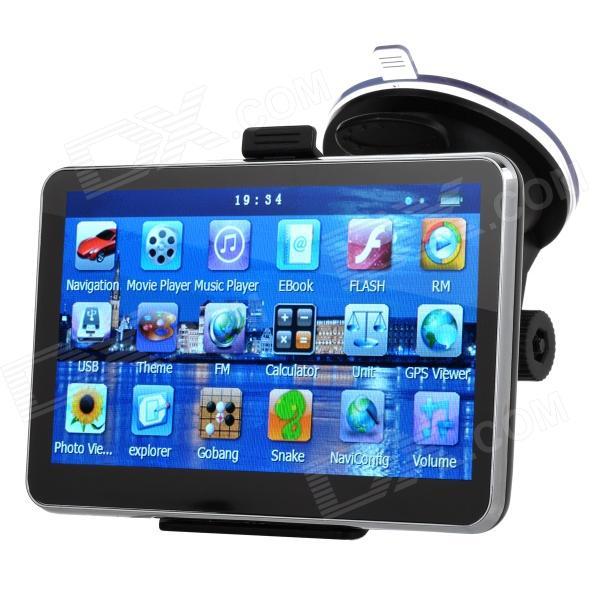 5quot Resistief Scherm Wint CE 6.0 Auto GPS-navigator Met TF / FM / Microfoon. - Zwart (multinationale)