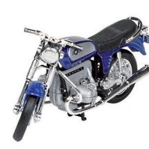 Model speelgoed motor BMW R75 blauw 1:18