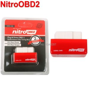 100% Original NitroOBD2 Chip Tuning Box Nitro OBD2 Performance Plug and Drive OBD2 Chip Tuning Works For Diesel Retail Box