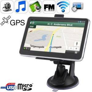 5 0 inch TFT Touch-screen Car GPS Navigator met 4GB geheugen en Kaart Ondersteuning AV In Port Touch Pen Voice Broadcast FM Transmitter Bluetooth