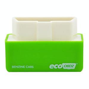 Super Mini EcoOBDII Plug en station Chip Tuning Box voor Benzine lagere brandstof en lagere Emission(Green)