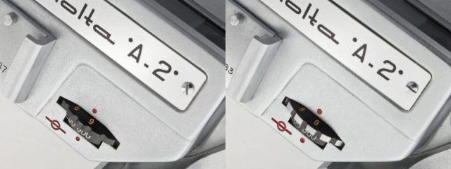 Minolta A-2 MVL shutter Dial black_zebra