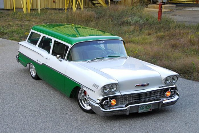 This Two Tone Paint 1958 Chevrolet Yeoman Resto Mod is Beyond Amazing Paul Currie already changed a number of cool cars beforehand  but Chevy  wagon he knew for so long was something special  His first having been a   69 Camaro