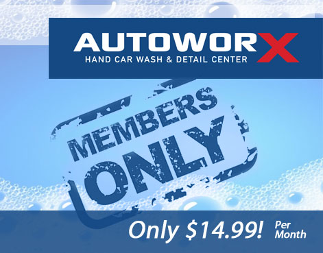 AutoworX Wash Club Myrtle Beach SC Hand Wash Club VIP Treatment Detailing Discounts