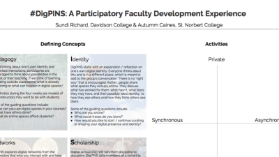 ELI Poster Presentation: DigPINS – A participatory faculty development experience