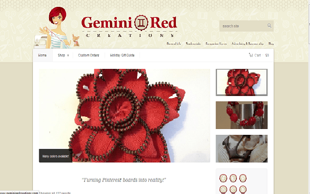 Holiday Gift Guide Review: GeminiRed Creations Headbands &  Cabochon Flower hair clips