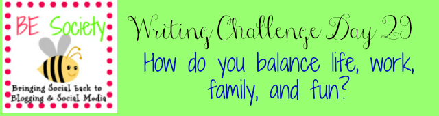 29/31 Writing Challenge with @thebesociety -Balance #besociety #bejulychallenge