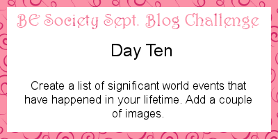 10/30-Sept @TheBEsociety Challenge- Events in my life time(freebie) #besociety #beseptchallenge
