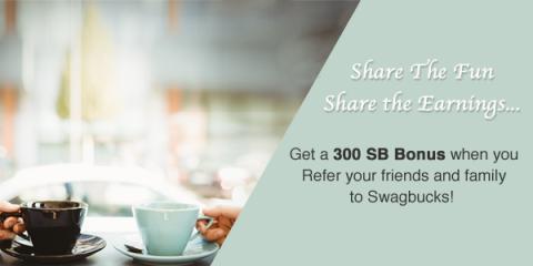 Get 300 bonus SB when you sign up for Swagbucks in September