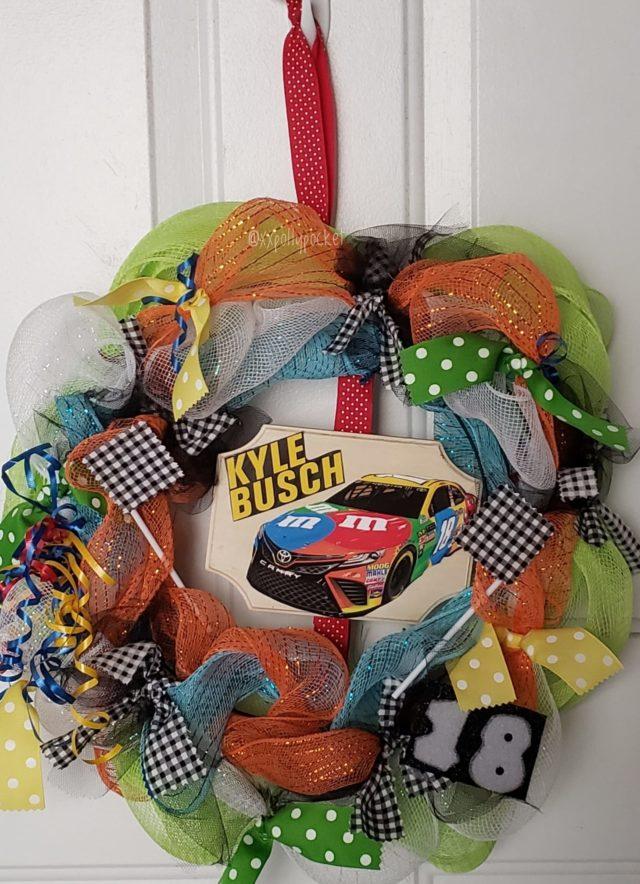 David's Birthday Present: #handmade #kylebusch wreath by my mom!