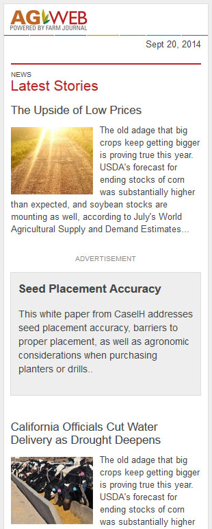 AgWeb / Farm Journal: Mobile
