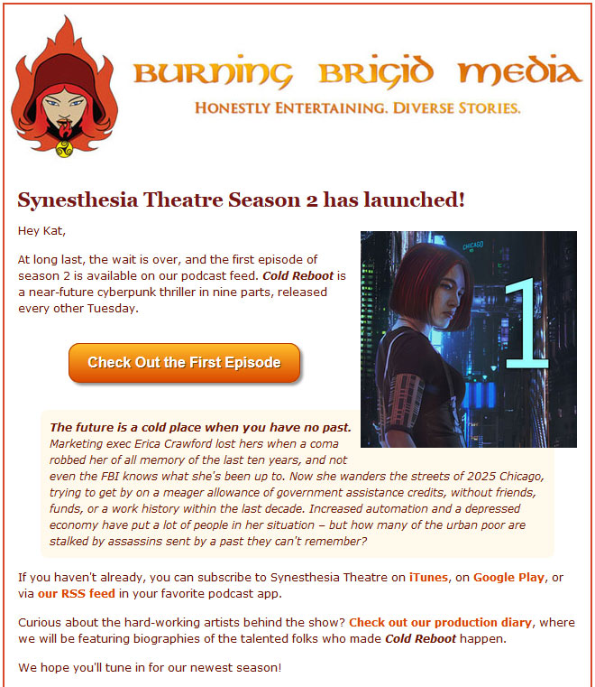 Burning Brigid Responsive Email
