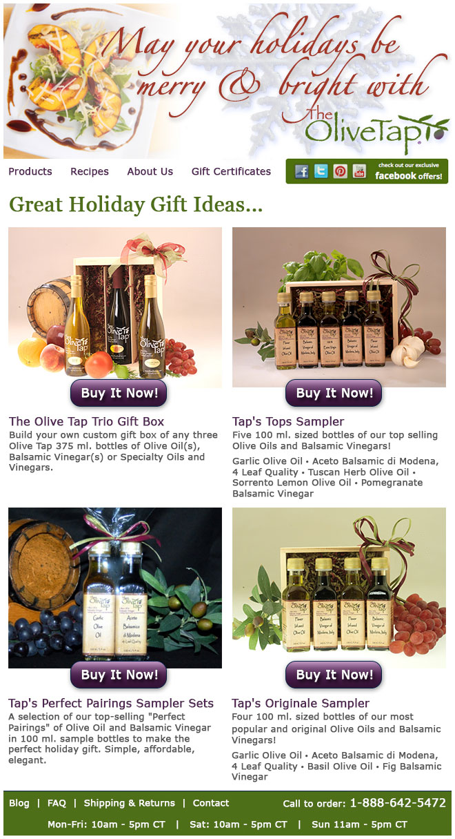 Olive Tap: Email Design
