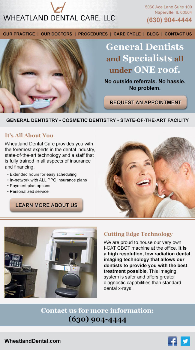 Wheatland Dental: Email Design