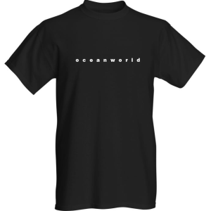 'Oceanworld' title - short sleeve - black