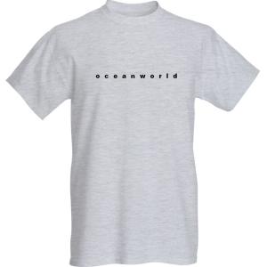 'Oceanworld' title - short sleeve - grey
