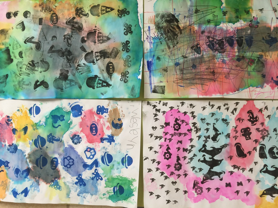Pattern Stamping Papers Review Worksheet