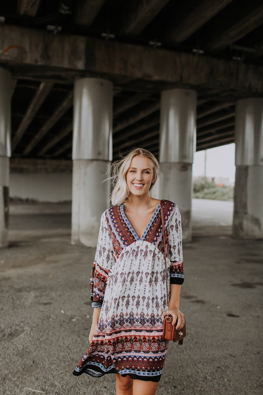Kori Boho Dress and Steve Madden Mules