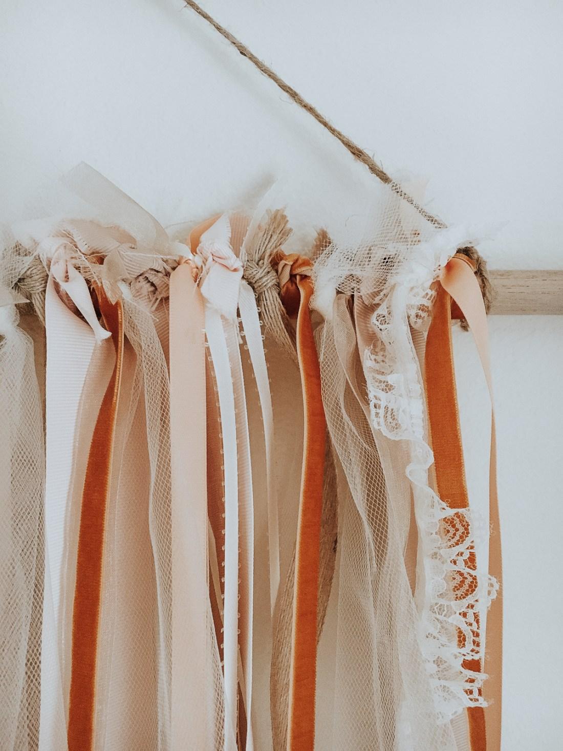 Ribbon Wall Hanging DIY