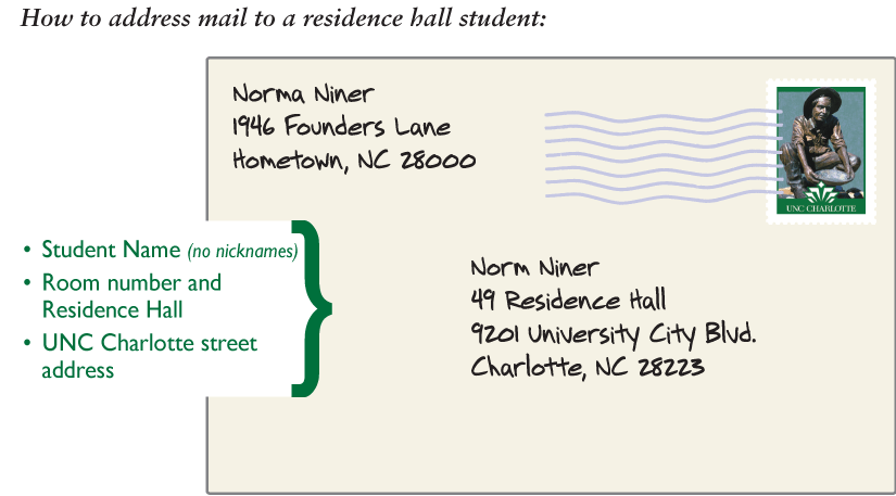 Mail Amp Package Services Auxiliary Services UNC Charlotte
