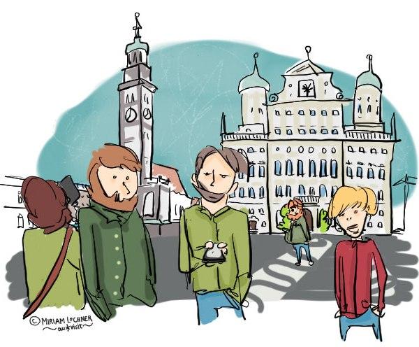 Rathausplatz, Augsburg, Auxburg, Auxkvisit, Blogparade, Tinder, Onlinedating
