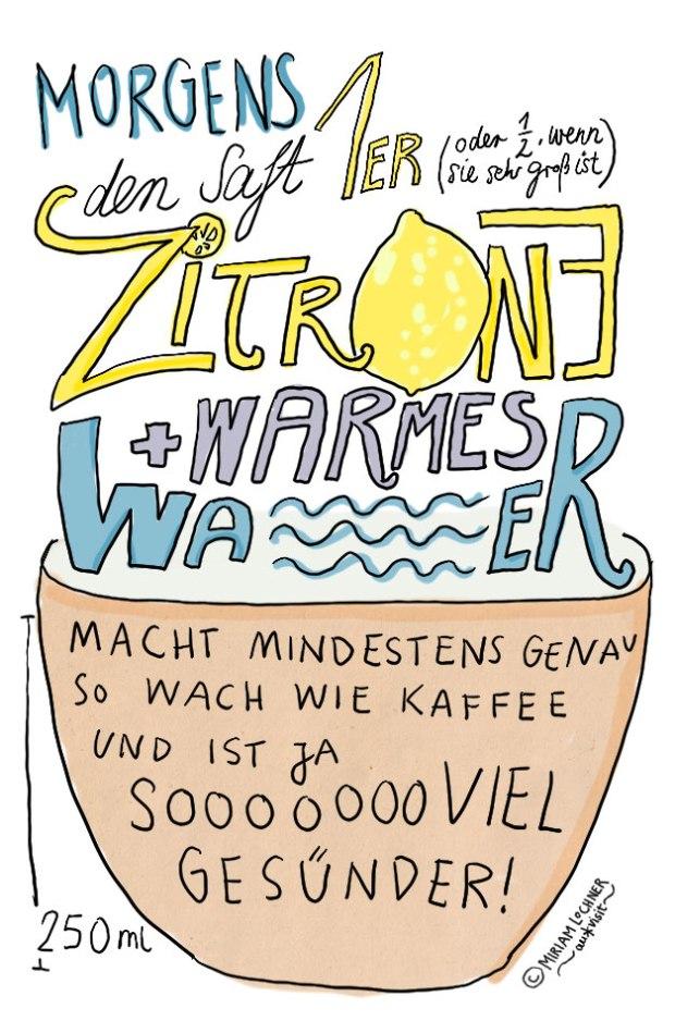 Zitronenwasser ist ja so viel gesünder als Kaffee