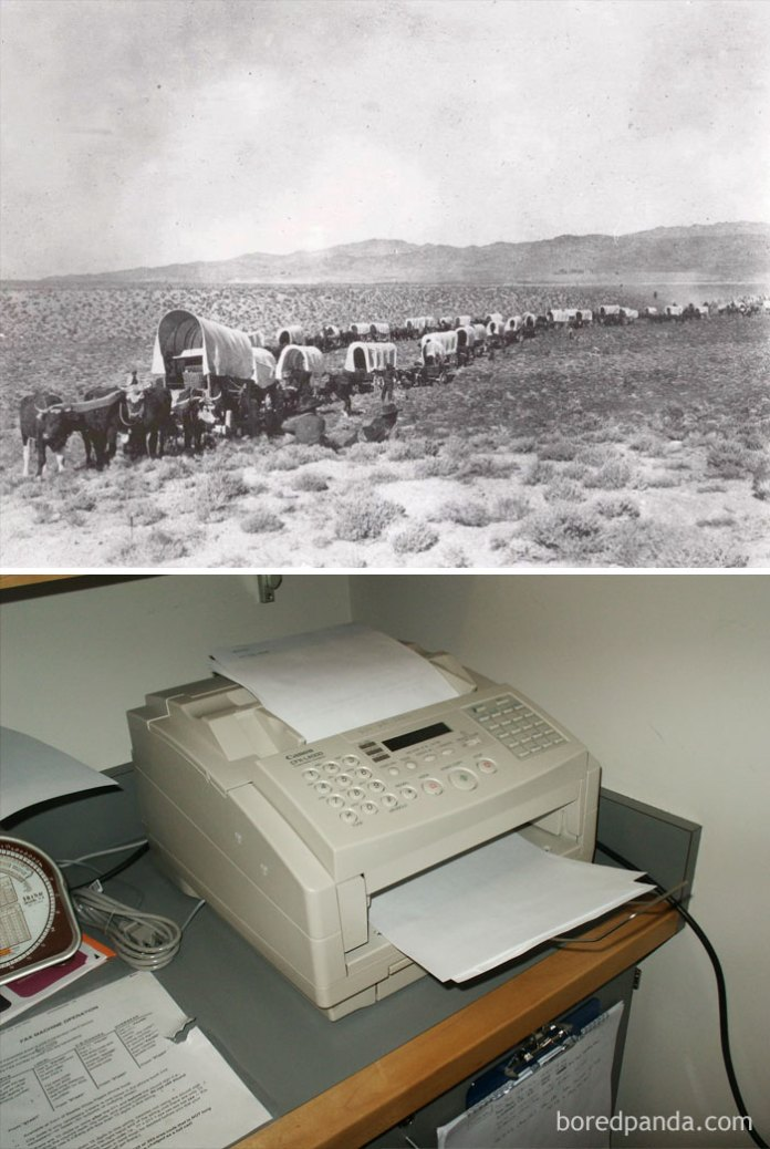 The Fax Machine Was Invented The Same Year The First Wagon Crossed The Oregon Trail (1843)
