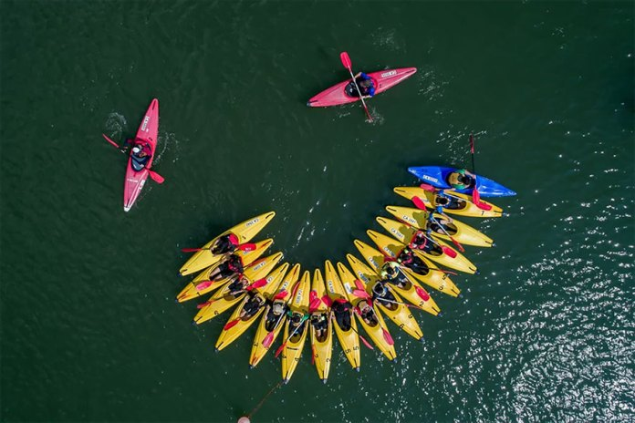 Canoes In The Singapore Reservoirs