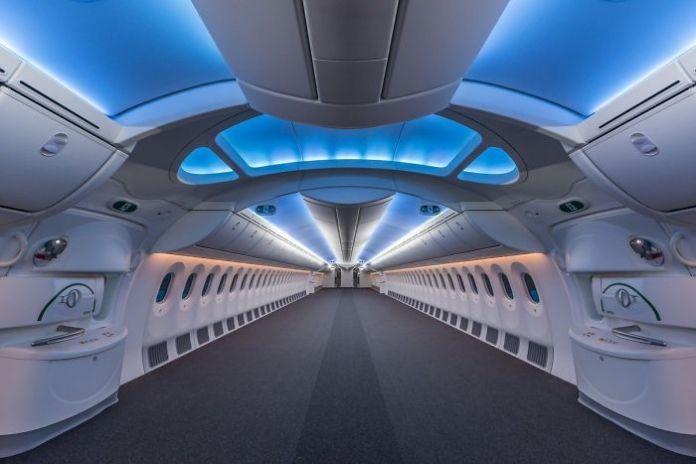 Empty Boeing 787