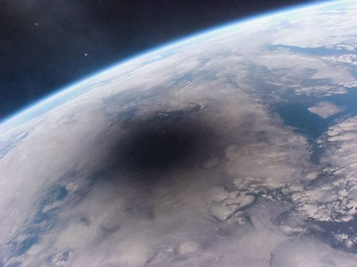 What An Eclipse Looks Like From Space