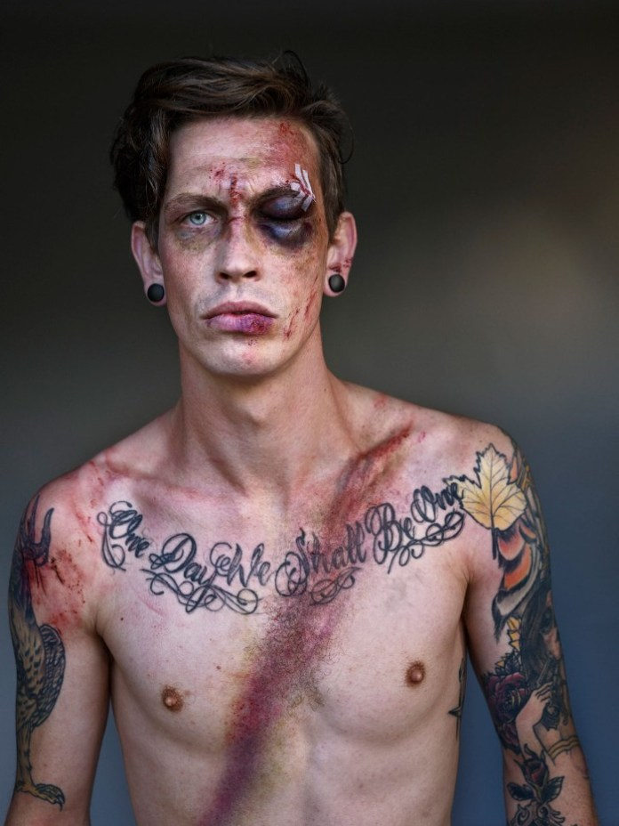 one eyed punk man