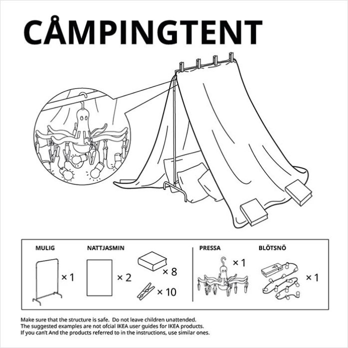 Clothing tent