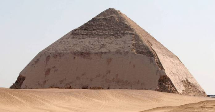 eleven pyramids in Dahshur, Egypt