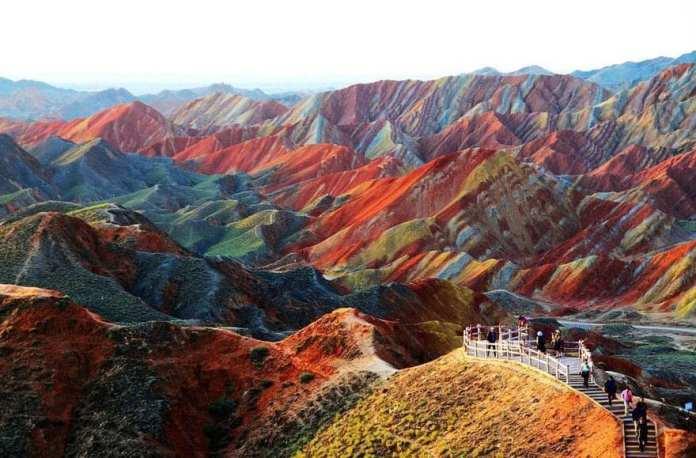 Zhangye Danxia National Geological Park, China.