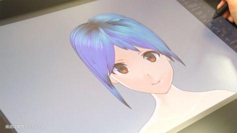 ペンツールで毛束を描き、各種パラメーターを調節するだけでキャラクターの髪型をモデリングできる