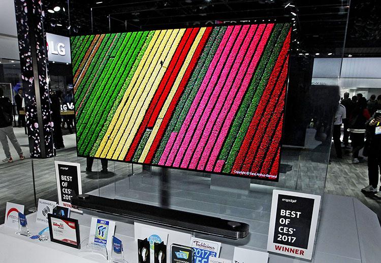 LG CES Awards winnaar Wallpaper TV