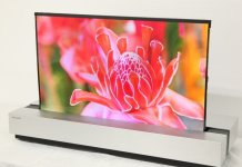 Sharp OLED oprolbare TV