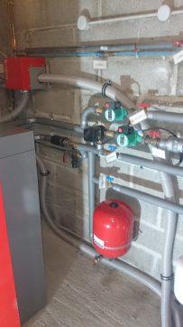 hydraulique départ chauffage et sanitaire